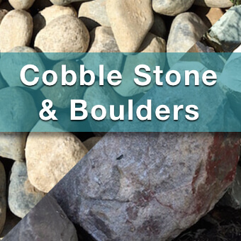 cobble stone and boulders for sale from suburban landscape supply