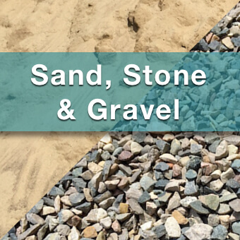 sand, stone and gravel for sale from suburban landscape supply
