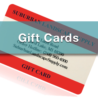 gift cards for landscape supplies like mulch, topsoil, boulders, pavers and more
